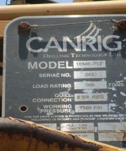 (1)Used Canrig Top drive 1050E-712 for sale-IMG-20180112-WA0010