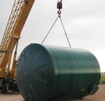 210 BBL fiberglass production tank