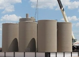 300 BBL Fiberglass Production Tank