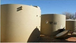 300 BBL Low Profile Steel Production Tank